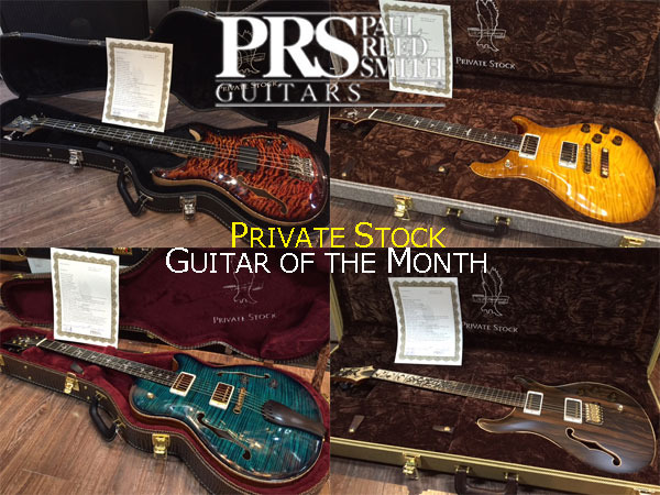 paul reed smith private stock gallery guitar of the month